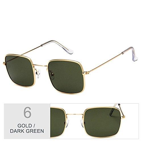 Gafas De Sol TIANLIANG04 Sol Gafas Marco Gold Green Dark Sobredimensionado De Mujer Con Metal Claro De Plateado 0pYYXqwR