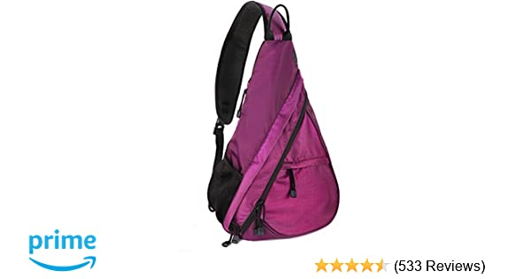 Amazon.com  Unigear Sling Bag Backpack Shoulder Crossbody Bag Chest Pack-Medium  Water Resistant Travel Backpack for Men Women (Purple)  Sports   Outdoors 637ba6dfd4736