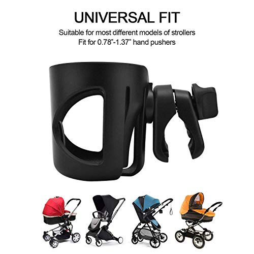 Amazon.com: Portabidones para cochecito, soporte universal ...