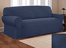 Fancy Collection Sure Fit Stretch Fabric Sofa Slipcover Sofa and Love Seat Covers Solid New #Stella