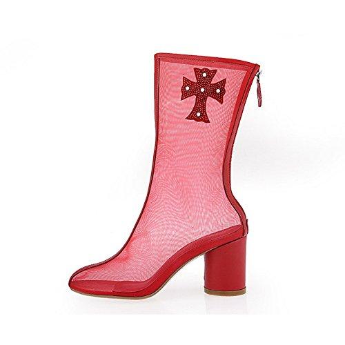 SLC03928 Sandales Rouge Compensées 36 AdeeSu Red 5 Femme SRwqRxd