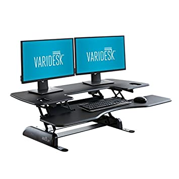 VARIDESK - Height-Adjustable Standing Desk - Pro Plus 48 - Black