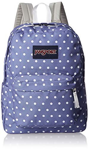 JanSport Superbreak Backpack - Bleached Denim White Dots
