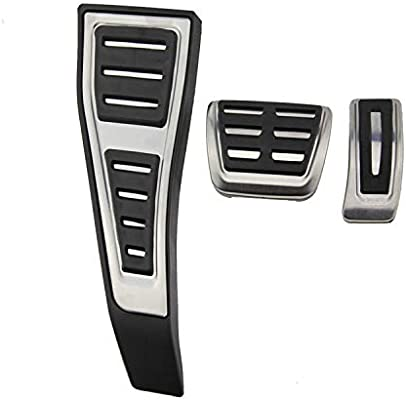 Stainless Steel Anti-Slip at Accelerator Brake Pedal Cover Underleaf No Drill Gas Brake Pedal