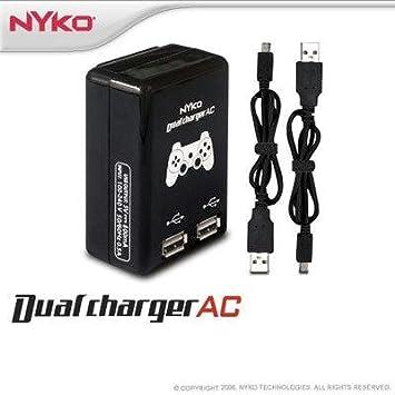 Amazon.com: PS3 Cargador USB doble Nyko: Computers & Accessories