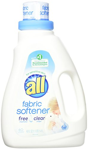 (all Liquid Fabric Softener for Sensitive Skin, Free Clear, 48 Fluid Ounces, 60 Loads)