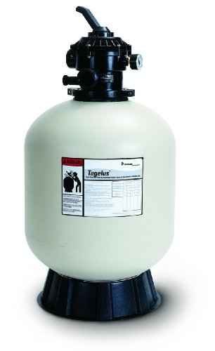 Pentair 145240 Tagelus Top Mount Fiberglass Sand Pool Filter, 4.9 Square Feet, 100 GPM, with Clamp-Style Multiport Valve by Pentair