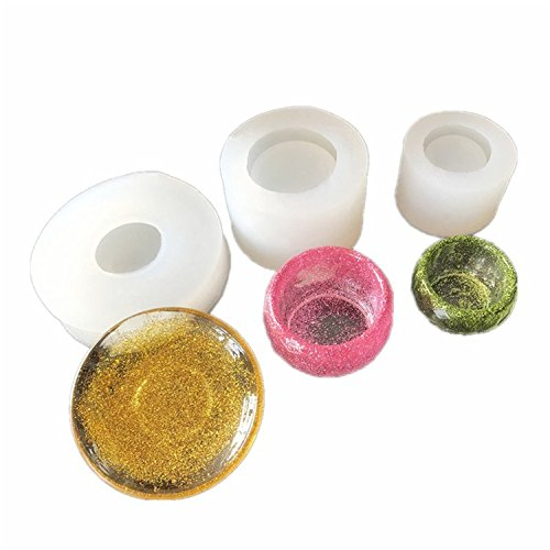 3 pcs/set Epoxy Resin Molds,Small Dish,Big Bowl,Silicone Molds,Transparent Jewelry Mold Making Tools, DIY Pendant Make,Gifts Handcraft (Resin Transparent Bracelets)