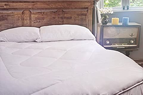 Luxurious Antiallergenic 100% Peruvian Royal Alpaca Duvet Comforter covered 100% Peruvian PIMA Cotton 600 threads, Extra-QUEEN, Thermo-Regulator, Anti-microbial, Handmade, Organic, WHITE
