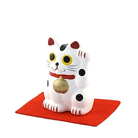 JAPAN CRAFT: Maneki Neko - Gato japonés de la suerte - Gato de la suerte S - Pureza y felicidad: Amazon.es: Hogar