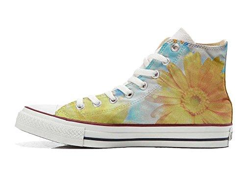 Primavera Handwerk Star All Converse Schuhe Schuhe Sonnenblume Hi personalisierte Customized wY8xx5gq