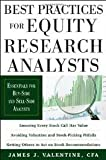 img - for Best Practices for Equity Research Analysts 1st (first) edition book / textbook / text book