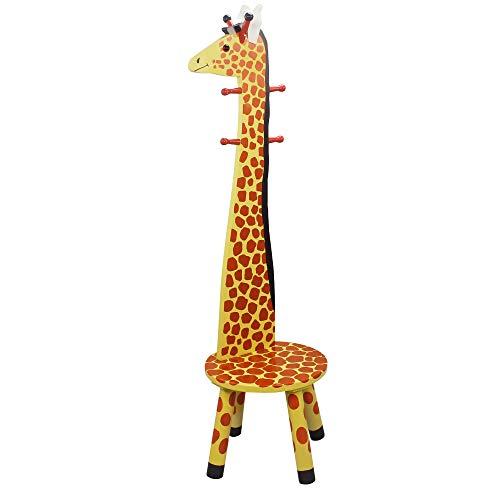 (Teamson Kids - Safari Stool with Coat Rack - Giraffe (Renewed))