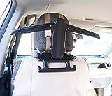 BFRed Car Seat Foldable Coat Rack Hanger Seat Chair Back Headrest Car Suit Hanger for Coat Jacket Car Jacket Hanger (Black)
