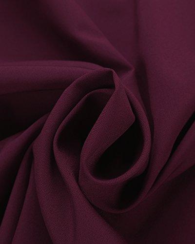 StyleDome Mujer Camiseta Mangas 3/4 Volantes Blusa Playa Hombros Descubiertos Elegante Rosa