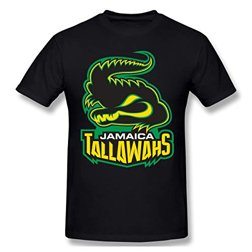 DeMaXIy Mens Jamaica Tallawahs Soft Black T Shirt XXL