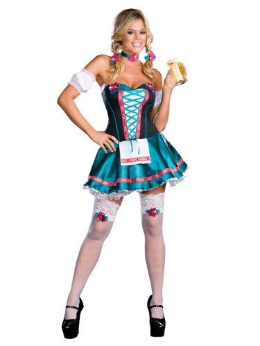 [German Beer Girl Theatre Costumes Oktoberfest Costume Sexy Corset Mini Dress Sizes: Medium] (German Beer Girl Costume Ideas)