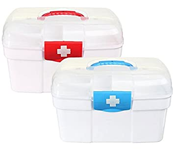 Exceptionnel Empty First Aid Kit Family Medicine Chest Storage Box Household Plastic  Drug Holder Case Medicine Cabinet