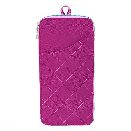 Baggallini Women's RFID Travel Wallet Fuchsia/Pink Wallets