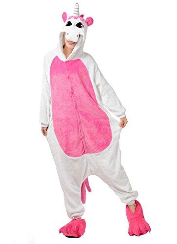 Pink Unicorn Onesies Adult Kigurumi Costume Pajamas L (Plus Size Squirrel Costume)