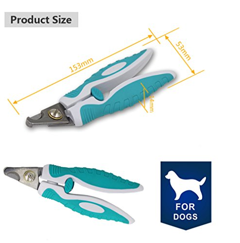 SweetyLady Professional Pet Nail Clippers with Quick Sensor Sharp Cuts and Safety Guard Claws Nails Trimmer Tool for Large and Small Animals Easy At Home Grooming