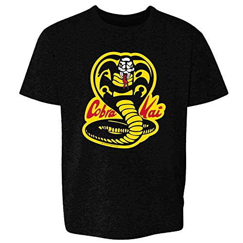 Cobra Kai Costume The Karate Kid Retro Martial Art Black L Youth Kids Girl Boy T-Shirt