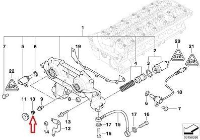 2 X BMW OEM Cylinder Head Vanos Unit Blind Plug for 320i 323Ci 323i 325Ci 325i 325xi 328Ci 328i 330Ci 330i 330xi 525i 528i 530i X3 2.5i X3 3.0i X5 3.0i Z3 2.5 Z3 2.5i Z3 2.8 Z3 3.0i Z4 2.5i Z4 3.0i Made By VICTOR REINZ