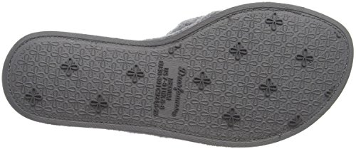 Dearfoams Slide - Pantuflas Mujer Gris (Medium Grey)