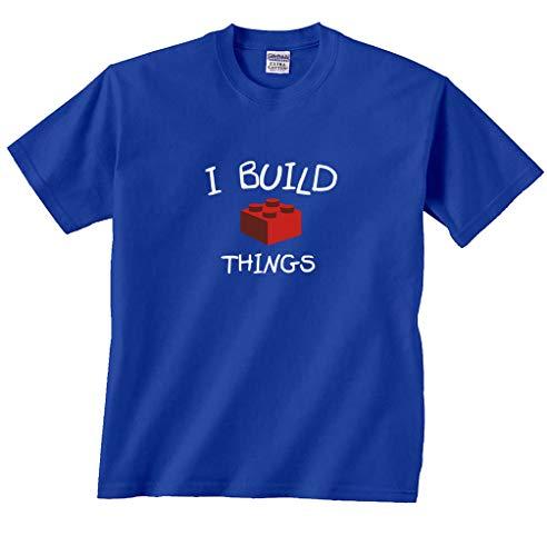 Fair Game I Build Things Brick Building Blocks T-Shirt-Royal-Youth Small