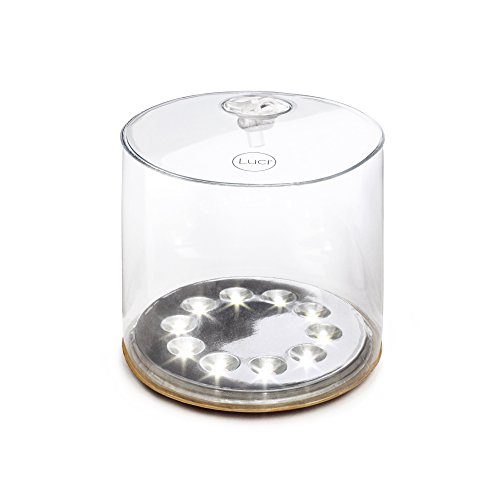 Carry Lantern Light Solar - MPOWERD Luci - The Original Inflatable Solar Light, Clear Finish