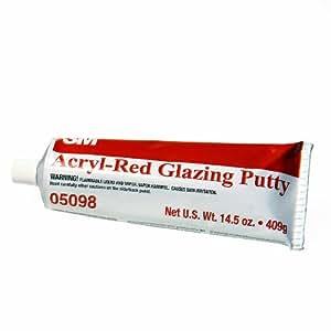 3M 05098 Acryl-Red Glazing Putty Tube - 14.5 oz.