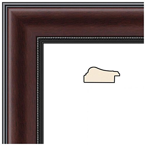 ArtToFrames 24x35 inch Mahogany and Burgundy with Beaded Lip Picture Frame 2WOMN9590-24x35