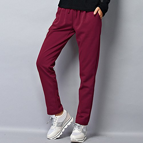 Zhuhaitf Alta calidad Fashion 4 Color Womens Comfortable Sport Fitness Loose Plus Size Pants Trousers Claret