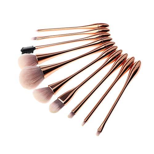 Professional 10PCs Makeup Brush Set Powder Cosmetic Tools