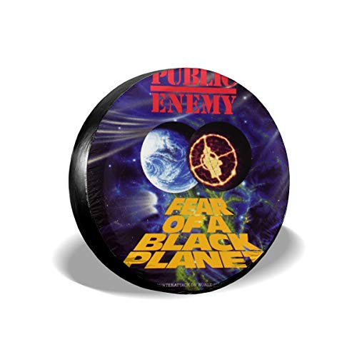 MICHAELM Public Enemy Fear of A Black Planet Spare Tire Cover, Weatherproof Dust-Proof Universal Spare Wheel Tire Cover Fit for Jeep,Trailer, RV, SUV, Truck (14,15,16,17 Inch) 14 Inch ()