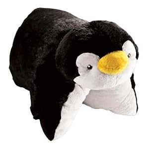 Pillow Pets 2146 - Cojín de peluche con diseño de pingüino, color blanco y negro