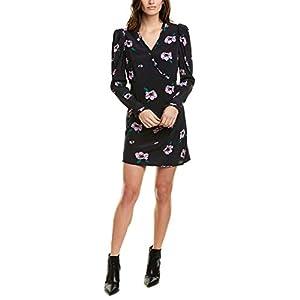 ASTR the label Women's Marinke Long Sleeve Crossover Top Short Mini Dress