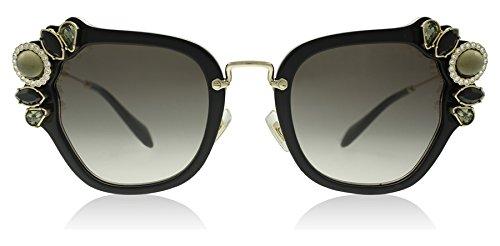 Miu Miu Women's 0MU 03SS Black/Grey Gradient - Miu Miu Sunglasses Style