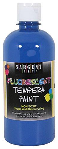 - Sargent Art 17-5750 16 oz Blue Fluorescent Tempera Paint