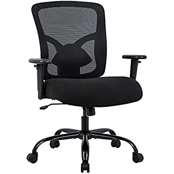 BestOffice Big and Tall 400lb Office Chair Desk Ergonomic Executive Rolling Swive Adjustable Arms Mesh Back Computer Task Stool with Lumbar Support for ...