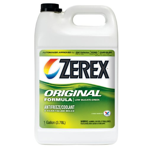 Zerex Original Green Antifreeze/Coolant, Concentrated - 1gal (Case of 6) (ZX001-6PK) by Zerex
