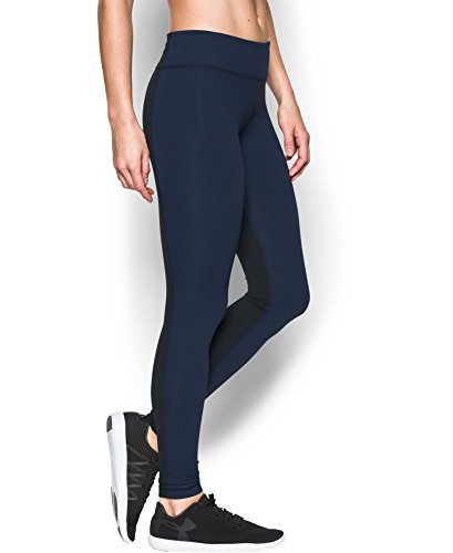 Under Armour Women's Mirror Legging, Midnight Navy/Black, Large