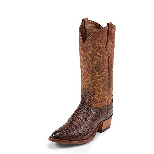 Tony Lama Menns Arlow 13 Høyde (1052) | Fot Cognac Conqstdr Skulder | Pullon Vestlige Støvler | Brunt Cowboy Skinnmansjett | Håndlaget I Usa