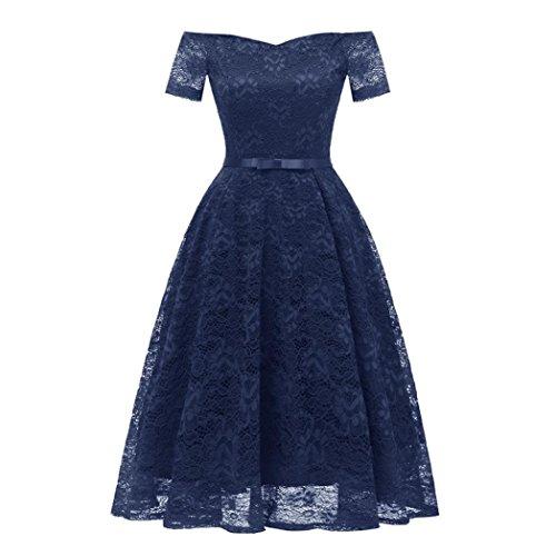 (Women Dress, Vintage Floral Lace Off Shoulder Party Valentine's Day)