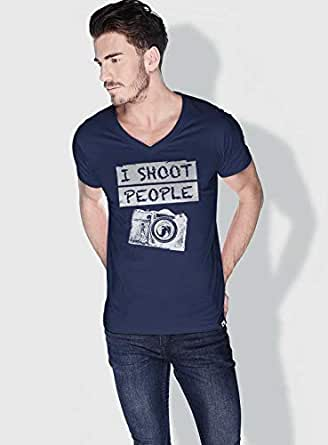 Creo I Shoot People Funny T-Shirts For Men - S, Blue