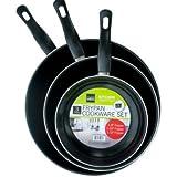 3 piece 6/8/10 inch frying pan set