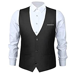 Men's Waistcoat,Wedding Suit Top Skinny Dress Designed Vest,Males Classical Tuxedo Waistcoat for Slim Fit Casual Formal Occasion