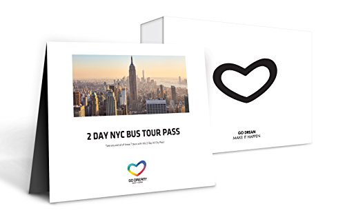 2 Days New York Bus Tour Pass Experience Gift Card NYC - GO DREAM ...