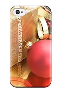 Dana Lindsey Mendez Fashion Protective Red Christmas Balls Case Cover For Galaxy S4 by lolosakes