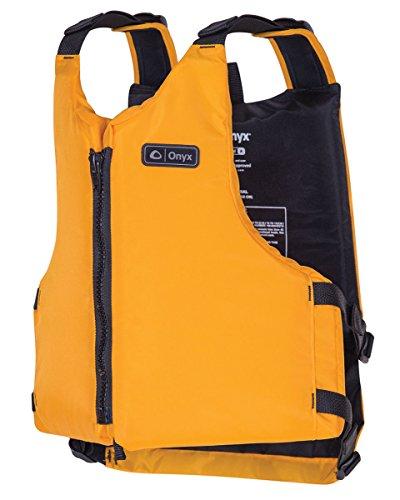 ONYX Livery Paddle Life Vest, Yellow, Oversize (Paddle Vest)